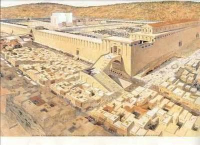 Gambaran Temple of Solomon oleh pelukis