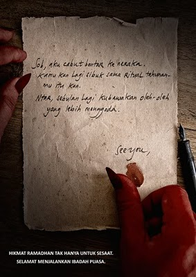 Sepucuk Surat Cinta Dari Iblis Untuk Dirimu