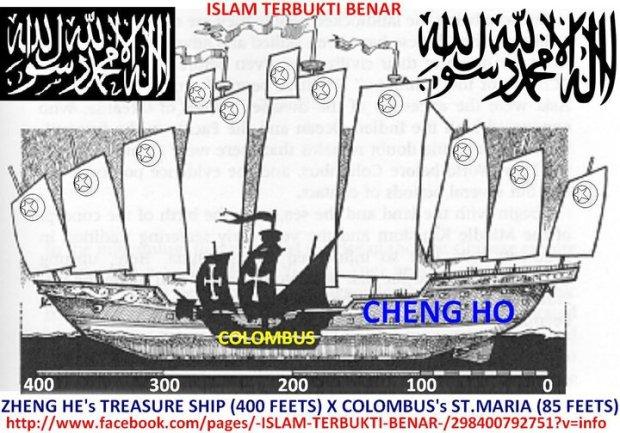 ukuran kapal cheng ho dan colombus